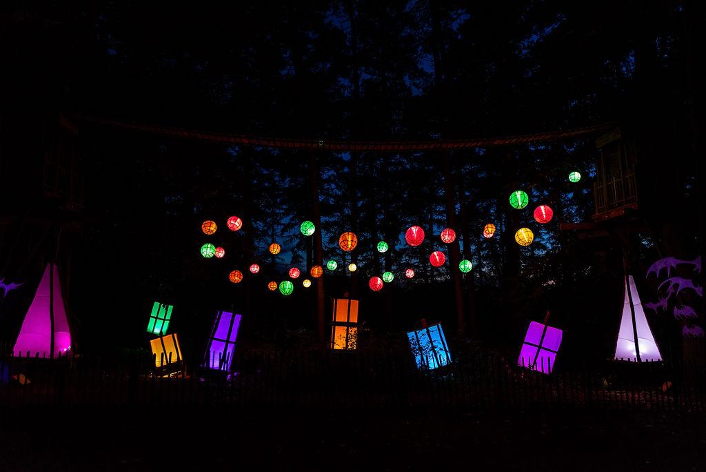Image of glowing lanterns