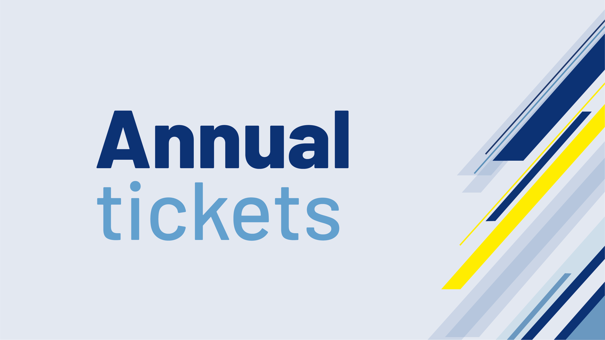 Image displays Annual Tickets