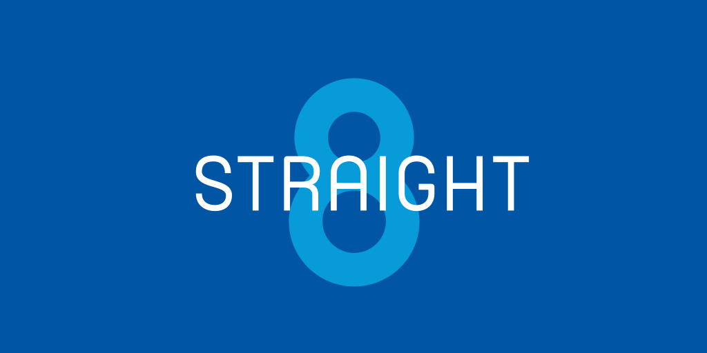image of straight 8 logo