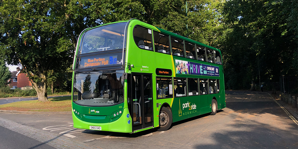 Image of a Park and Ride Bus