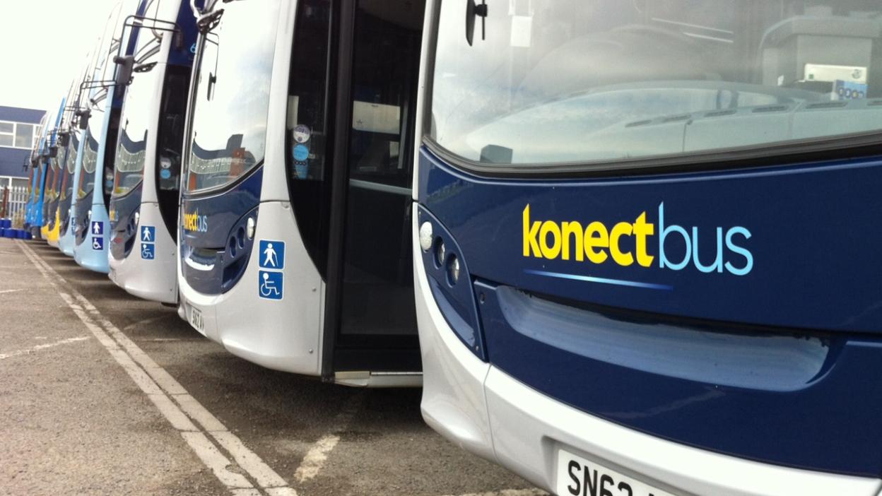Photo of Konectbus vehicles