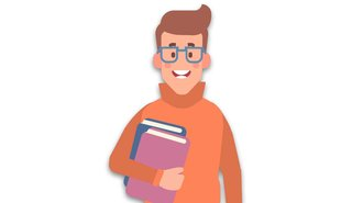 Illustration of a student